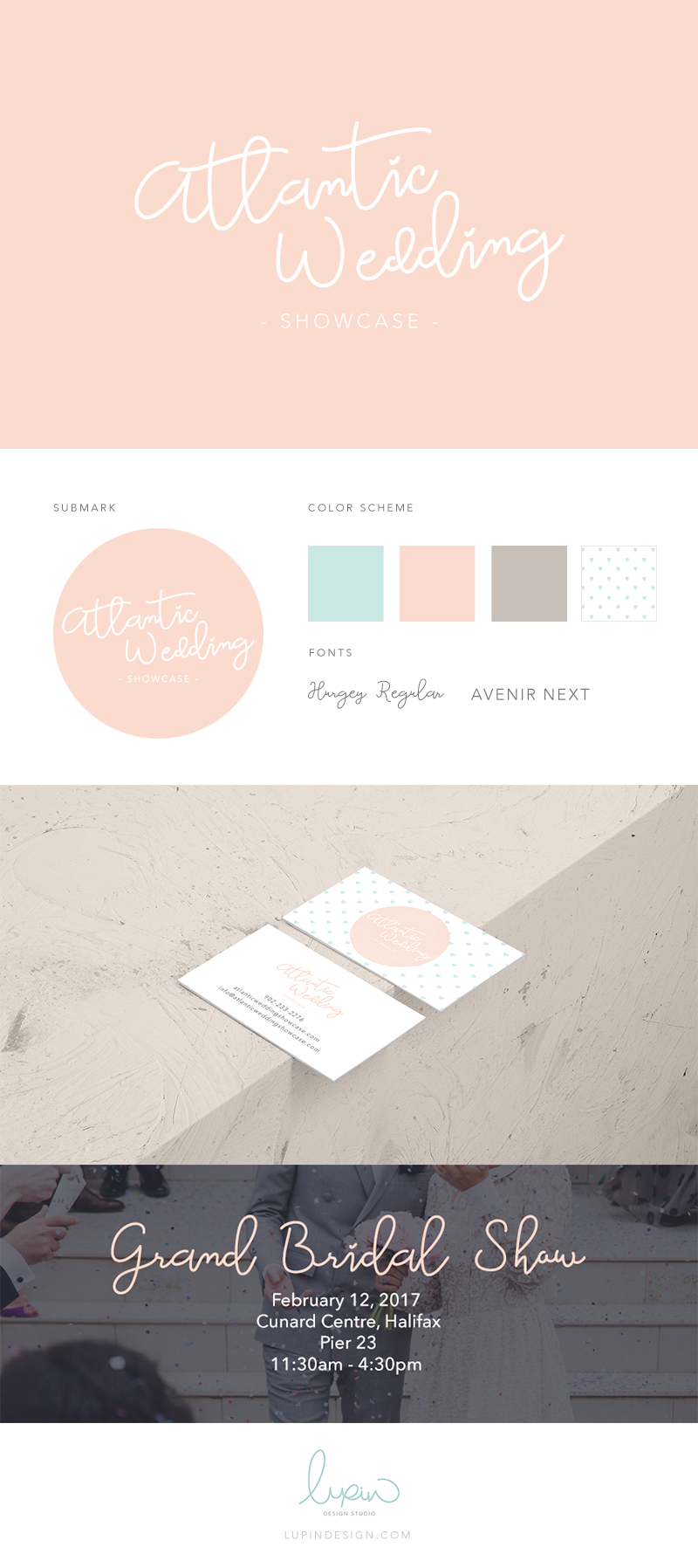 Branding: Atlantic Wedding Showcase | Lupin Design Studio