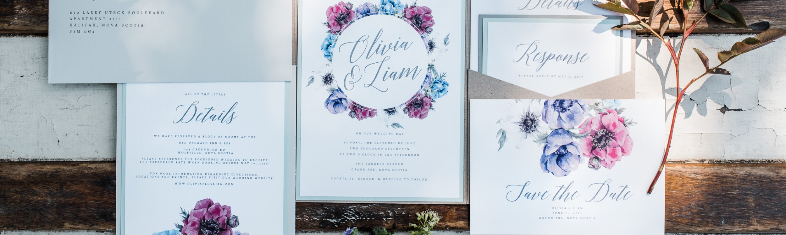 Wedding Invitations, Halifax Nova Scotia
