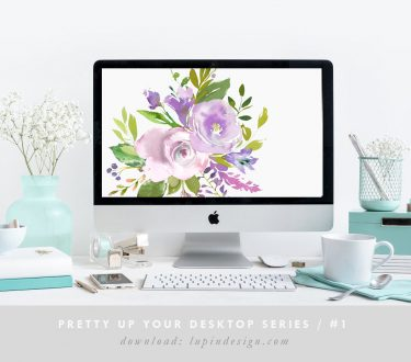 Pretty Up Your Desktop #1 – Purple Flowers