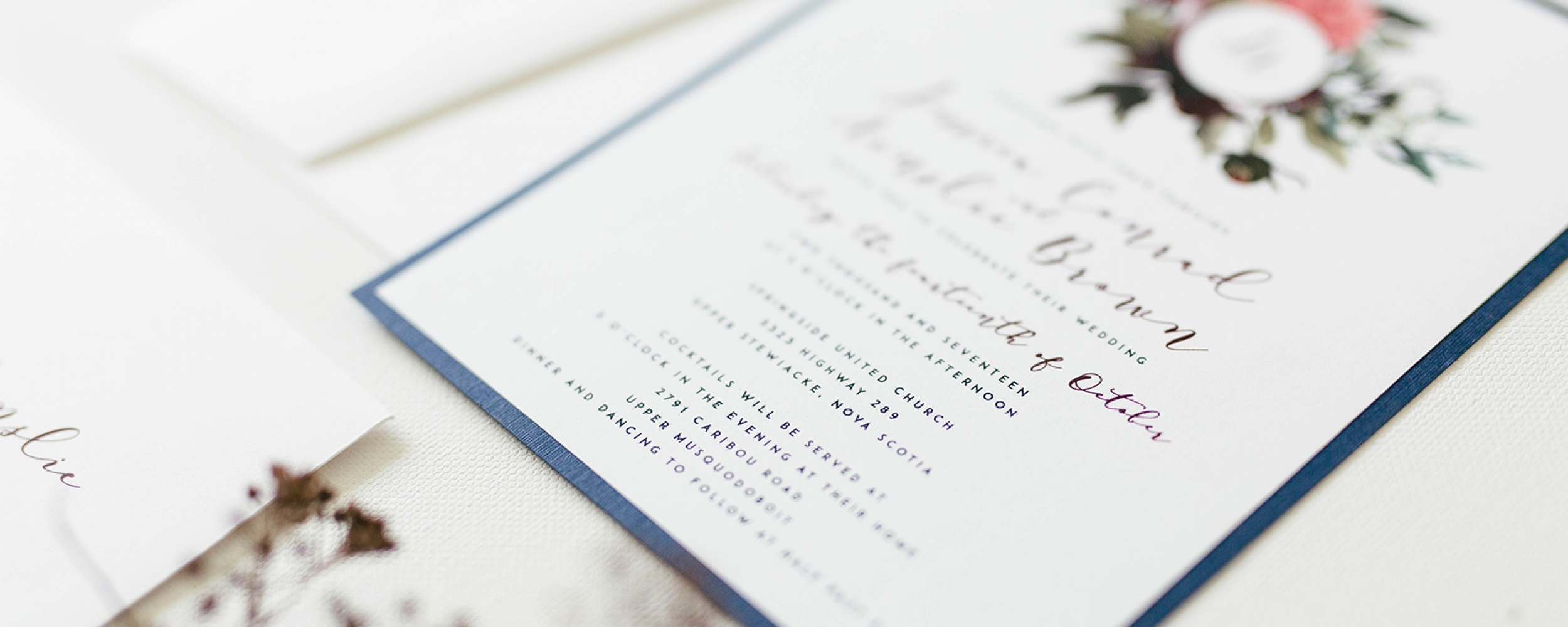 Lupin Design Studio | Custom Wedding Invitations in Halifax, Nova Scotia