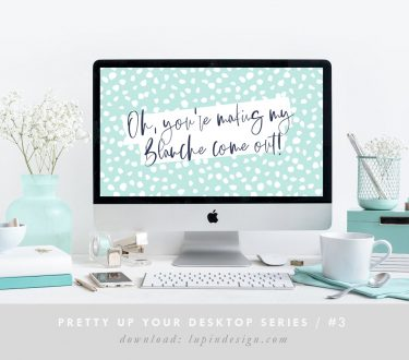 Pretty Up Your Desktop #3 – Blanche!